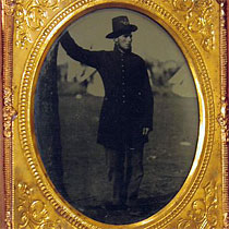 ambrotype of soldier