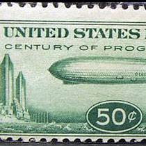 zeppelin airmail stamp